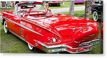 Red Chevrolet Classic Canvas Print by Mick Flynn