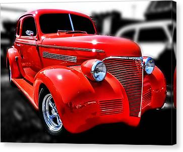 Red Chevy Hot Rod Canvas Print