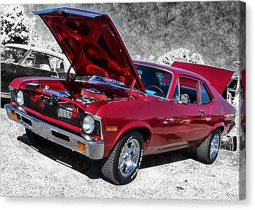 Red Chevy Nova Canvas Print
