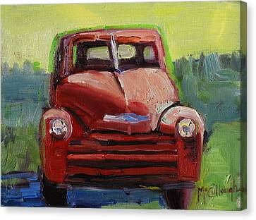 Red Chevy Canvas Print by Susan McCullough