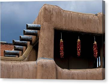 Red Chile Ristras Santa Fe Canvas Print by Carol Leigh