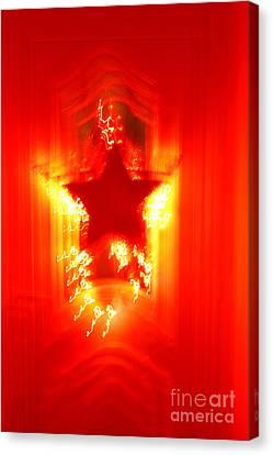 Red Christmas Star Canvas Print by Gaspar Avila