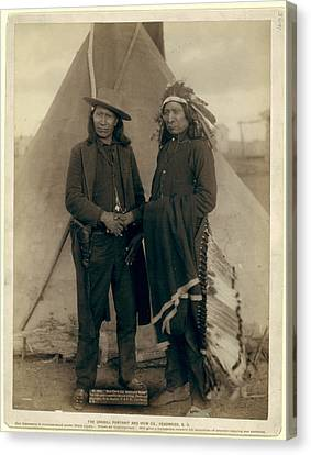 Red Cloud And American Horse. The Two Most Noted Chiefs Now Canvas Print by Litz Collection