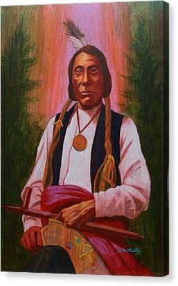 Red Cloud Oglala Lakota Chief Canvas Print by J W Kelly
