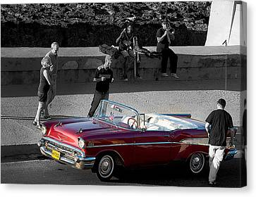 Red Convertible II Canvas Print