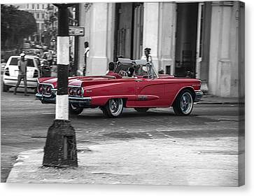 Red Convertible Canvas Print by Patrick Boening