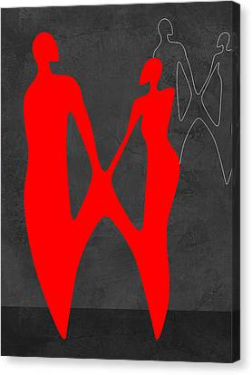 Red Couple 2 Canvas Print by Naxart Studio