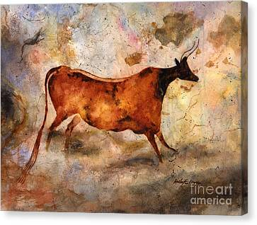 Red Cow Canvas Print by Hailey E Herrera