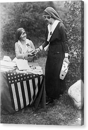 Red Cross Fundraiser, 1917 Canvas Print by Granger