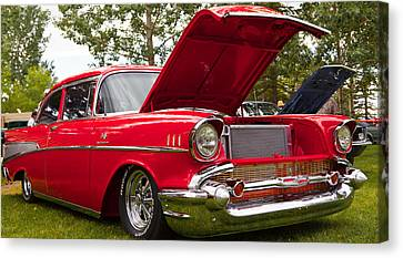Red Customised Car Canvas Print by Mick Flynn