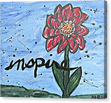 Red Dahlia Inspire Canvas Print