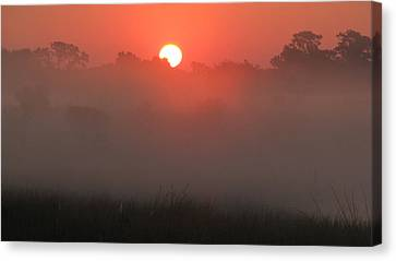 Canvas Print featuring the photograph Red Dawn by Peg Urban