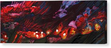 Red Demon With Pearls Canvas Print by Miki De Goodaboom