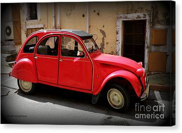 Red Deux Chevaux Canvas Print by Lainie Wrightson