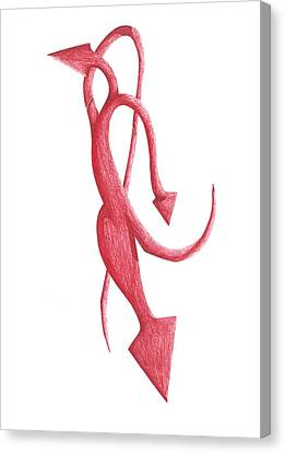Red Devil Canvas Print by Giuseppe Epifani