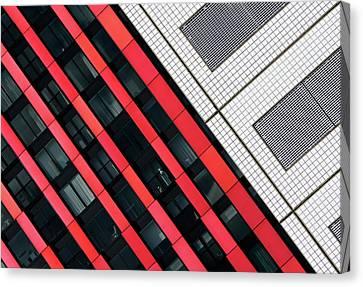 Red Diagonals. Canvas Print