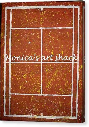 Red Dirt Of A Tennis Court Canvas Print