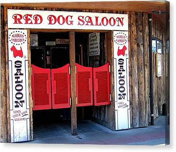 Red Dog Saloon Juneau Canvas Print