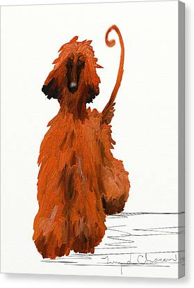 Red Dog Canvas Print by Terry  Chacon