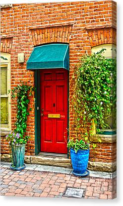 Red Door 2 Canvas Print by Baywest Imaging