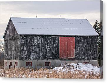 Red Door Barn Canvas Print