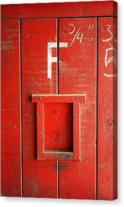 Red Door Canvas Print by Bobby Villapando