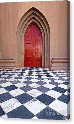 Red Door - D001859 Canvas Print