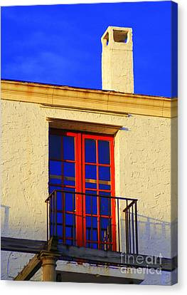 Canvas Print featuring the photograph Red Door by George Mount