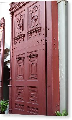 Red Door - Grand Palace In Bangkok Thailand - 01131 Canvas Print by DC Photographer