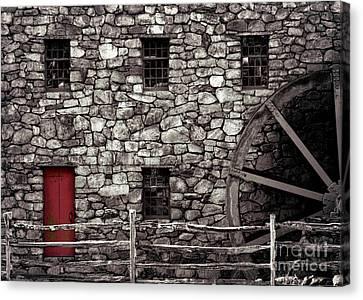 Red Door Canvas Print by Jayne Carney