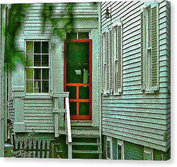 Screen Doors Canvas Print - Red Door On The Cape by Ira Shander