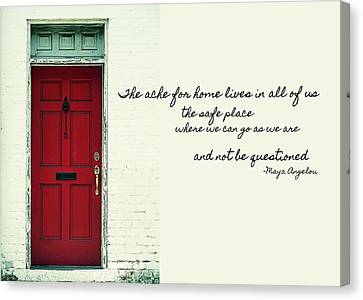 Red Door Quote Canvas Print by JAMART Photography