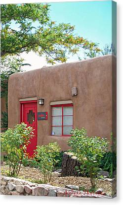 Canvas Print featuring the photograph Red Door by Sylvia Thornton