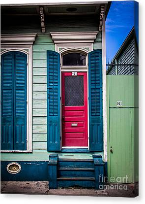Red Doored House Canvas Print by Perry Webster