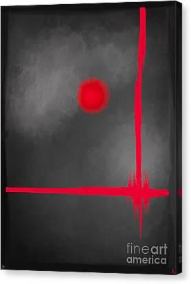 Red Dot Canvas Print by Anita Lewis