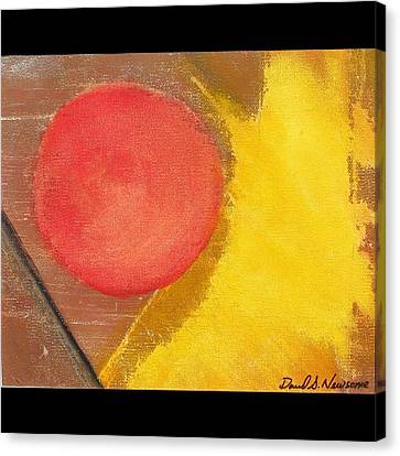 Component Canvas Print - Red Dot by David s Newsome