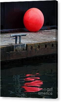 Red Dot Canvas Print by Elena Nosyreva