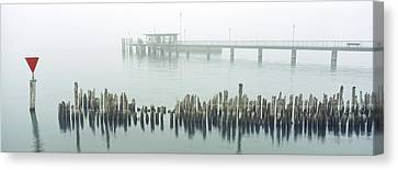Red Dot In Fog Canvas Print by Holger Spiering