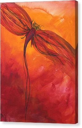 Red Dragonfly 2 Canvas Print