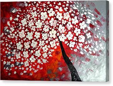 Red Dream Canvas Print by Mariana Stauffer