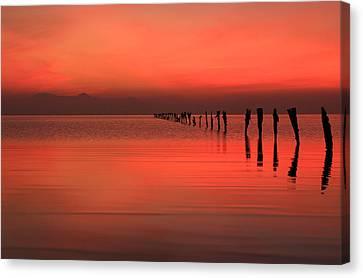 Red Dusk Sky  Canvas Print