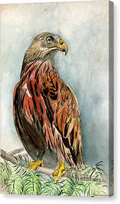 Red Eagle Canvas Print by Genevieve Esson