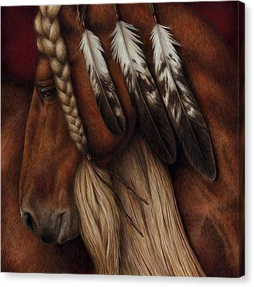 Red Eagle Canvas Print by Pat Erickson