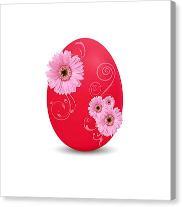 Red Easter Egg Canvas Print by Aged Pixel