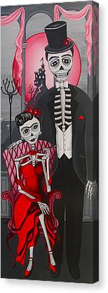 Red Engagement - Frida Y Diego Canvas Print