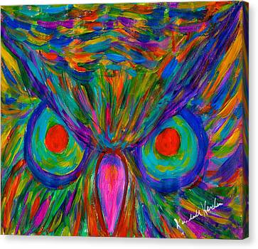 Red Eyed Hoot Canvas Print by Kendall Kessler