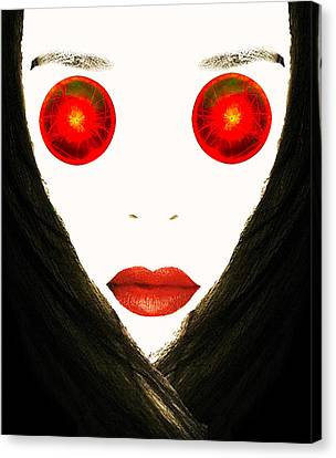Red Eyes Canvas Print by Bruce Iorio