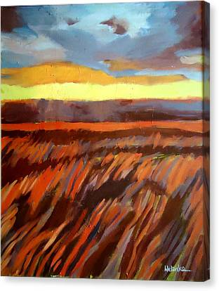 Canvas Print featuring the painting Red Field by Helena Wierzbicki