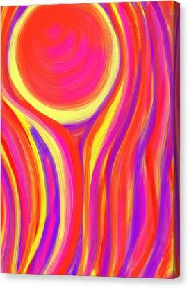 Daina Canvas Print - Red Fire by Daina White