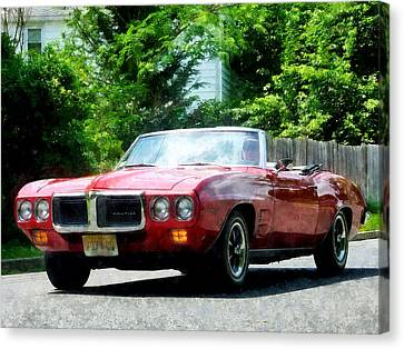 Red Firebird Convertible Canvas Print by Susan Savad